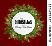 merry christmas and happy new... | Shutterstock .eps vector #1513234115
