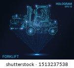 hologram forklift. a... | Shutterstock .eps vector #1513237538