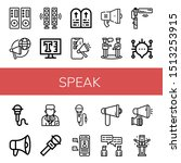set of speak icons such as...