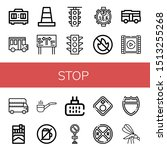 Set Of Stop Icons Such As Time...