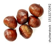 Chestnut Isolated. Roasted...