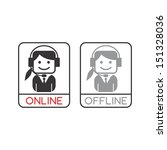 web connection woman avatar... | Shutterstock .eps vector #151328036