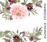 watercolor greeting card with... | Shutterstock . vector #1513286942