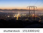 predawn view of power lines... | Shutterstock . vector #1513300142