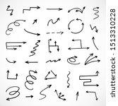vector set of hand drawn arrows | Shutterstock .eps vector #1513310228