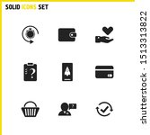 service icons set with checkbox ...