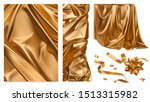 golden cloth. curtain  drapery  ... | Shutterstock .eps vector #1513315982