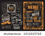 burger menu template for... | Shutterstock .eps vector #1513325765