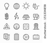 power symbol line icon on white ... | Shutterstock .eps vector #151334858