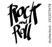 hand draw sketch rock and roll... | Shutterstock . vector #1513375478