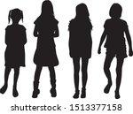 children black silhouettes.... | Shutterstock .eps vector #1513377158