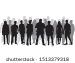 group of people. crowd of... | Shutterstock .eps vector #1513379318