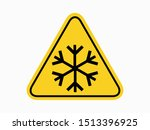 isolated warning frost hazards... | Shutterstock .eps vector #1513396925