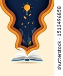 open book with learning... | Shutterstock .eps vector #1513496858