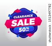 clearance sale with blue and... | Shutterstock .eps vector #1513497782