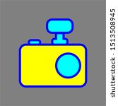 camera with light icon with...