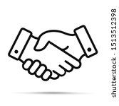 handshake icon. shaking hands... | Shutterstock .eps vector #1513512398