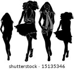 a lot of vector black... | Shutterstock .eps vector #15135346