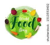 world food day poster or... | Shutterstock .eps vector #1513553402