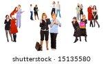 many people   diversity in... | Shutterstock . vector #15135580