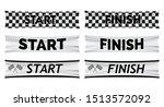 set of start and finish banner... | Shutterstock .eps vector #1513572092