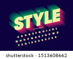 vector of stylized modern font... | Shutterstock .eps vector #1513608662