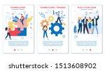 flyer set teambuilding and... | Shutterstock .eps vector #1513608902