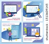 informational flyer online...   Shutterstock .eps vector #1513609145
