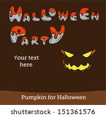 halloween vector card or... | Shutterstock .eps vector #151361576