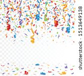 color confetti isolated on... | Shutterstock .eps vector #1513649138