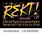 rekt  is an 80s grunge paint... | Shutterstock .eps vector #1513658582