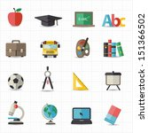 education back to school icons | Shutterstock .eps vector #151366502