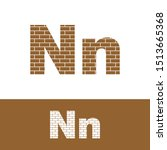 Letter N Simple Logo Icon  With ...