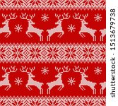 knitted seamless pattern with... | Shutterstock .eps vector #1513679738