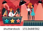 talent show vector illustration.... | Shutterstock .eps vector #1513688582