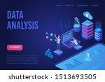 data analysis ultraviolet light ... | Shutterstock .eps vector #1513693505