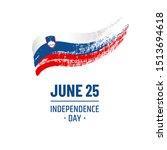 slovenia national day. june 25. ...   Shutterstock .eps vector #1513694618
