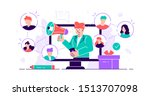 referral concept. marketing... | Shutterstock .eps vector #1513707098