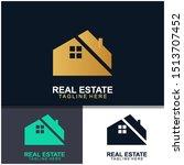 real estate logo design. ... | Shutterstock .eps vector #1513707452