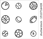 set of ball icons with white... | Shutterstock .eps vector #1513716428