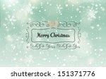 christmas horizontal banner... | Shutterstock .eps vector #151371776