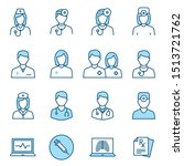 doctor flat line icons.... | Shutterstock .eps vector #1513721762