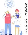 dementia concept with doctor... | Shutterstock .eps vector #1513746485