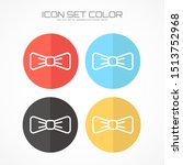 bow icon in trendy flat style...