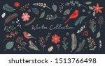 botanical christmas  xmas... | Shutterstock .eps vector #1513766498