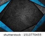 contrast dark grey and blue... | Shutterstock .eps vector #1513770455
