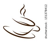 cup of coffee silhouette of the ... | Shutterstock . vector #151378412