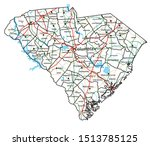 south carolina road and highway ...   Shutterstock .eps vector #1513785125