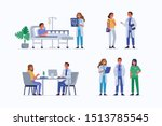 medical staff and patients.... | Shutterstock .eps vector #1513785545