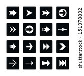 icon set 02 arrow sign. white...